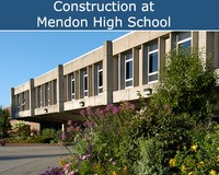 Construction at Mendon High School